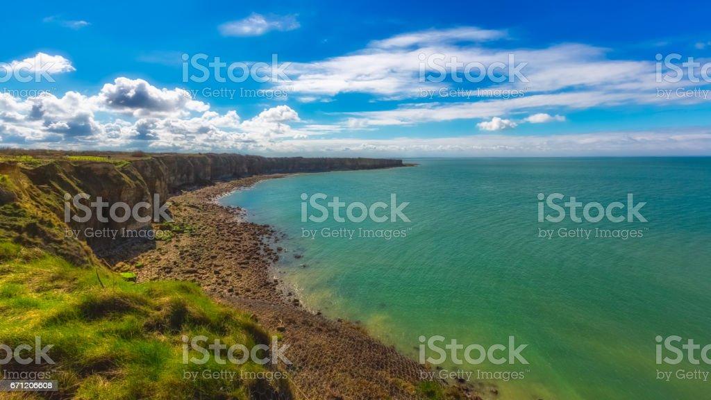 Pointe du Hoc, Normandy, France stock photo