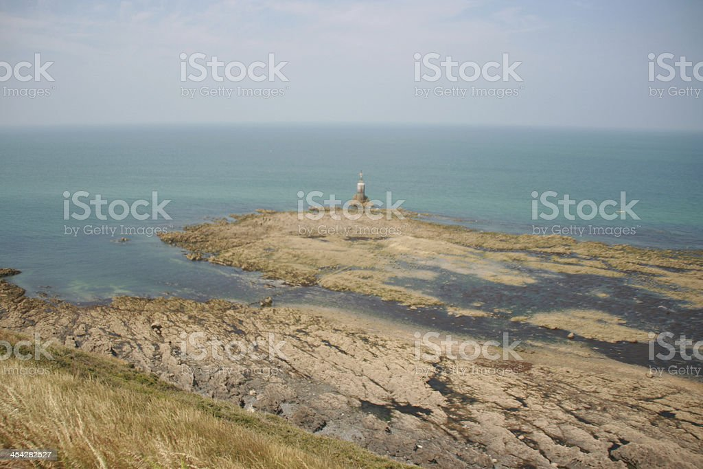 pointe du roc in granville, cotentin, manche, normandy, france royalty-free stock photo