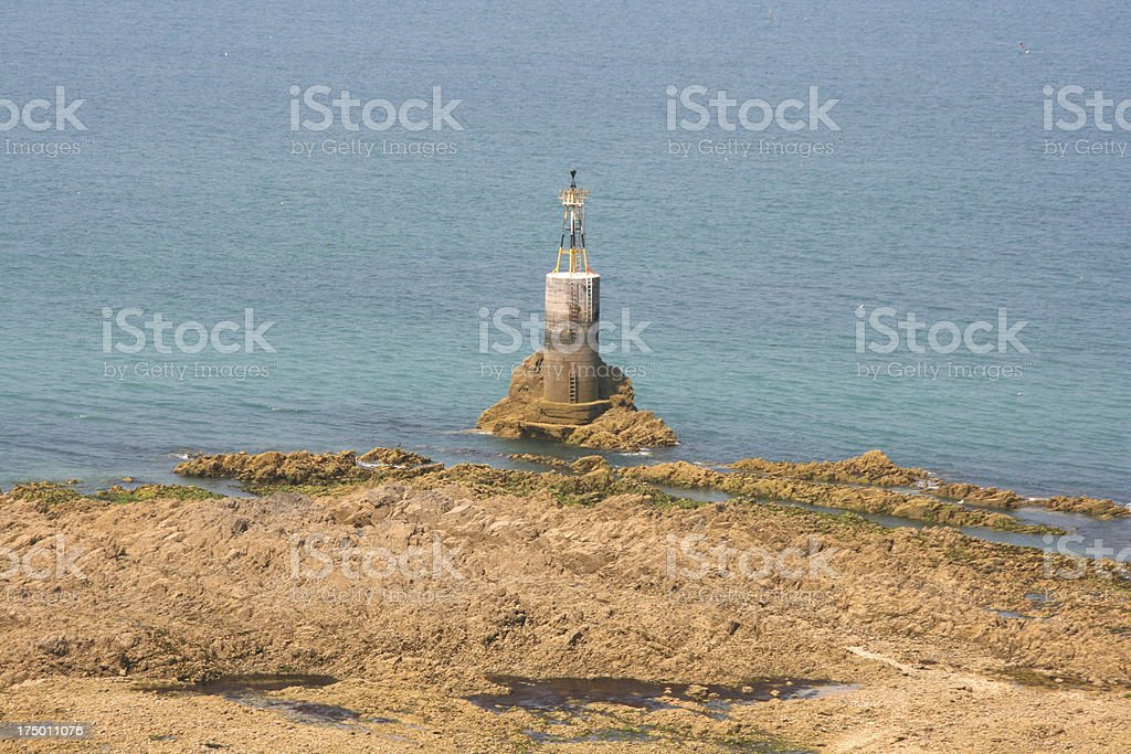 pointe du roc in granville (cotentin manche normandy france) royalty-free stock photo