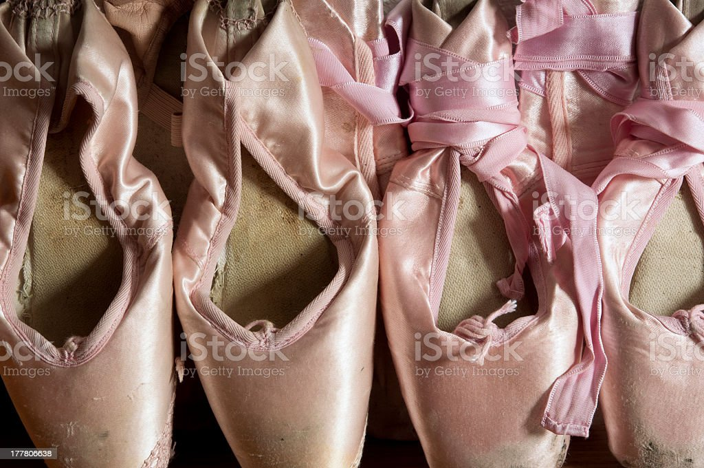 Pointe shoes royalty-free stock photo