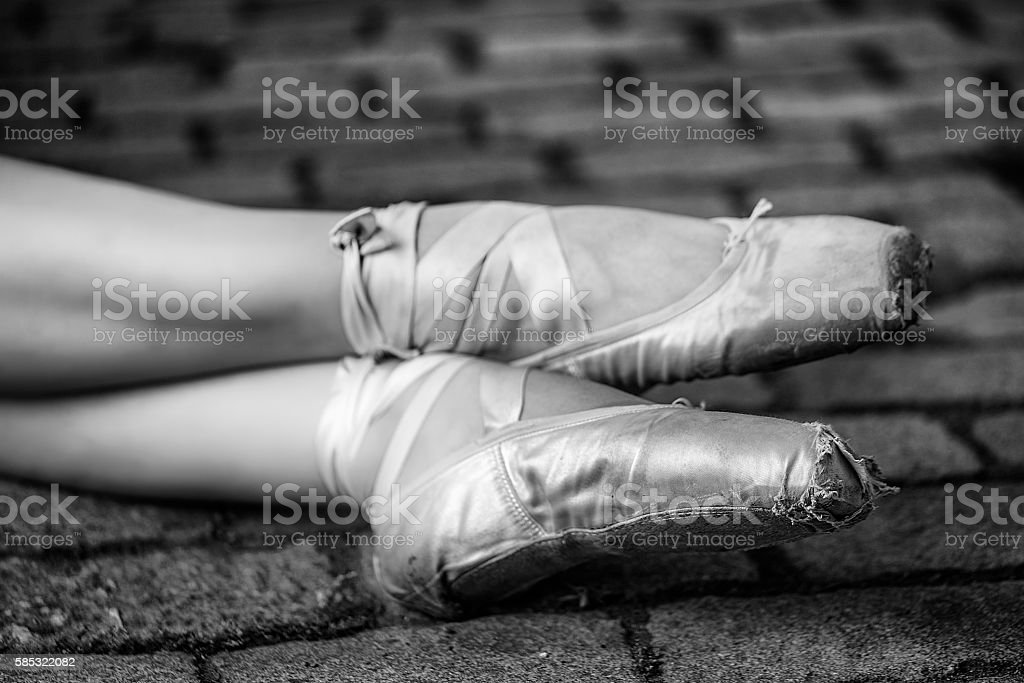 Pointe shoes stock photo
