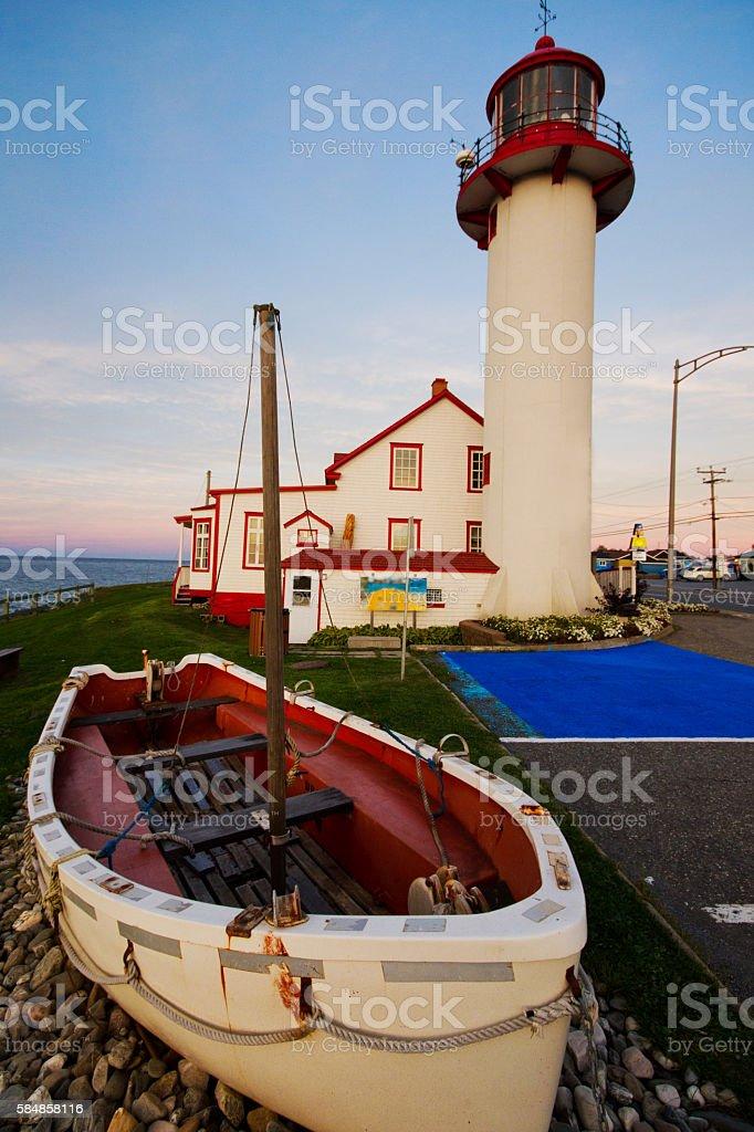 Pointe-au-Pere Lighthous stock photo