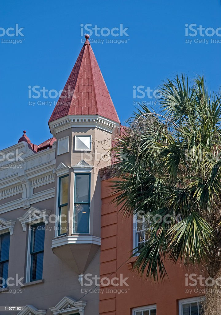 Pointed Rooftop in Charleston royalty-free stock photo