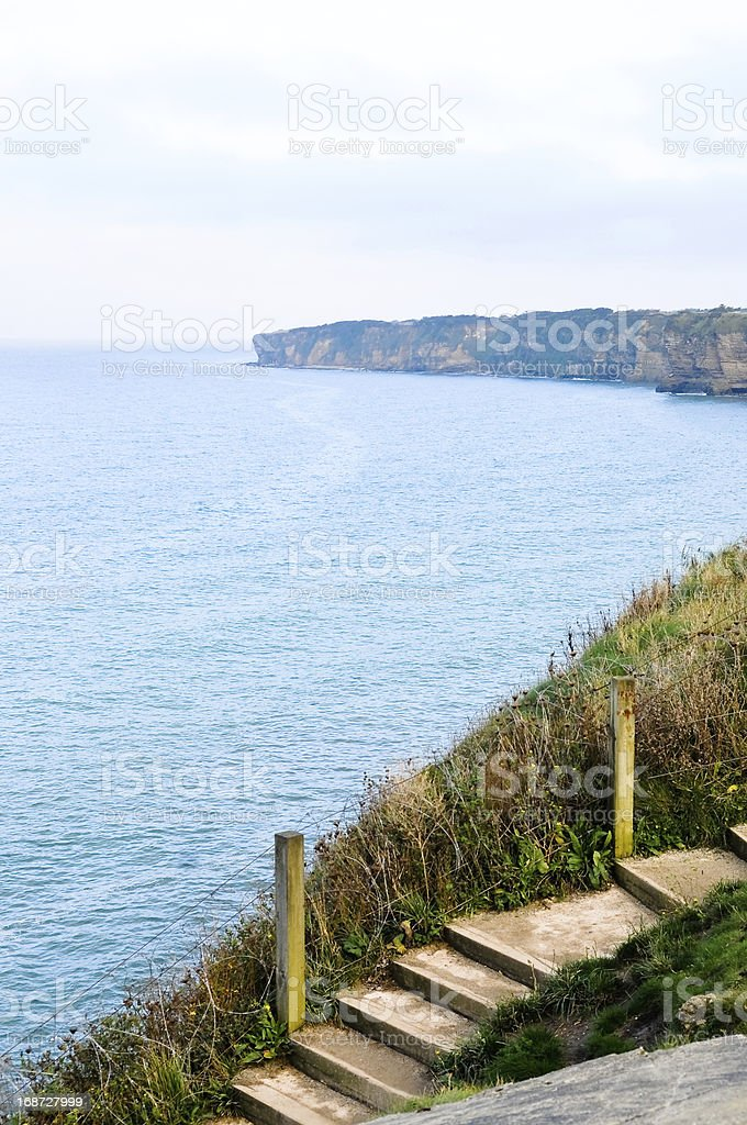 Pointe-du-Hoc, Normandy, France royalty-free stock photo