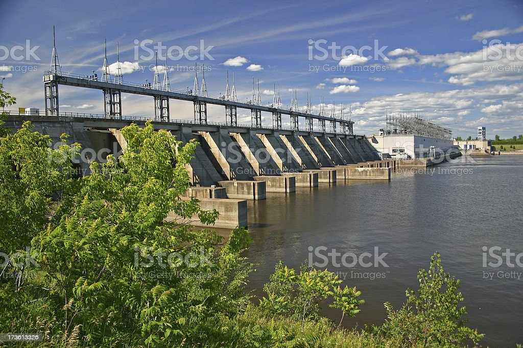 Pointe-Fortune Hydro Electric Dam royalty-free stock photo