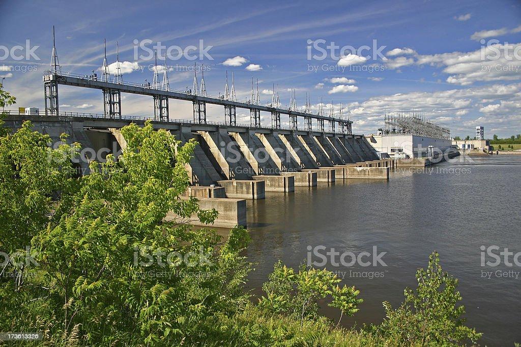 Pointe-Fortune Hydro Electric Dam stock photo