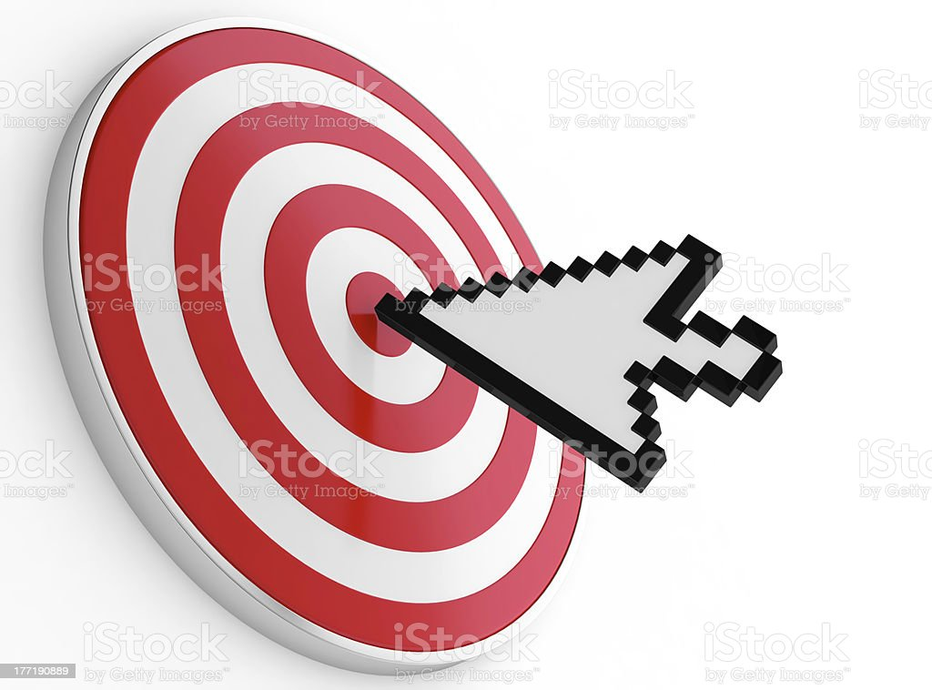 Pointer and target stock photo