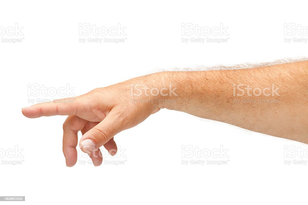 Pointing a Finger stock photo