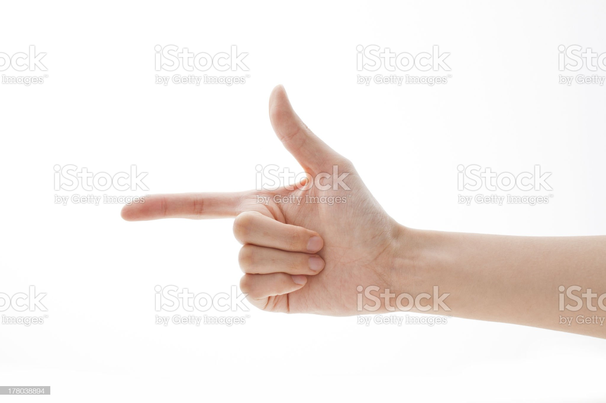 Pointing Direction royalty-free stock photo