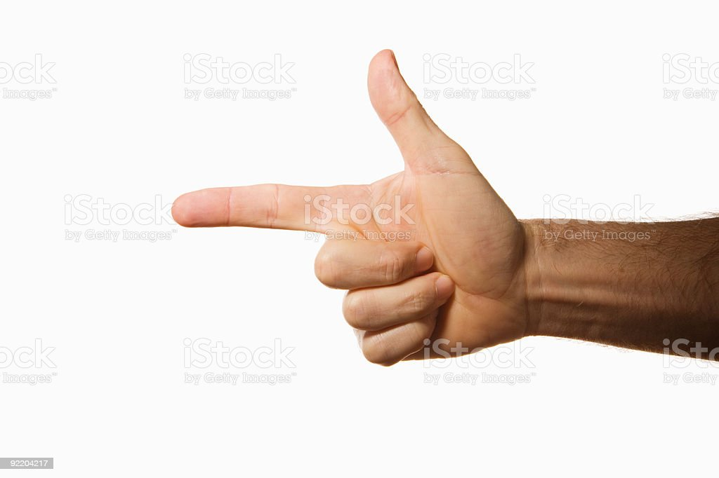pointing hand royalty-free stock photo