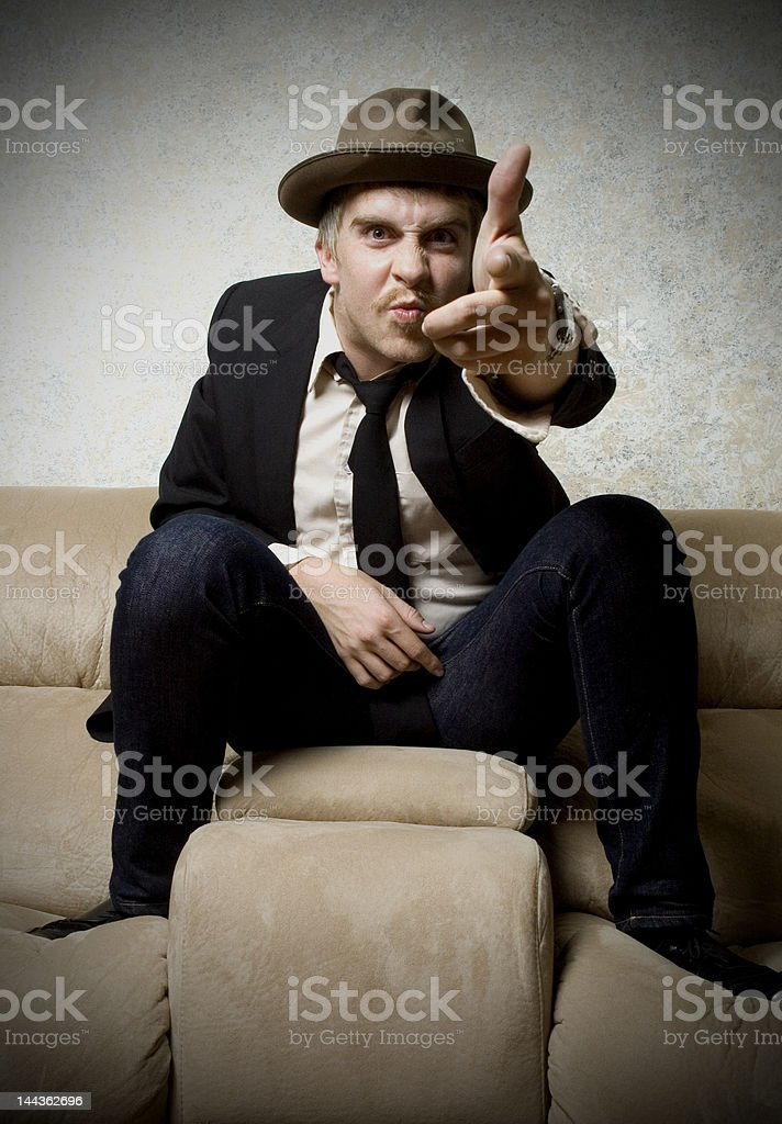 pointing man royalty-free stock photo