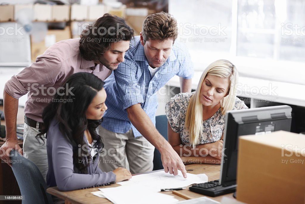 Pointing out a few minor points royalty-free stock photo