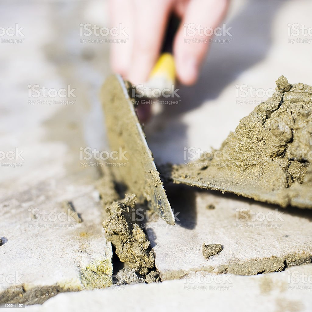 Pointing Paving Slabs royalty-free stock photo