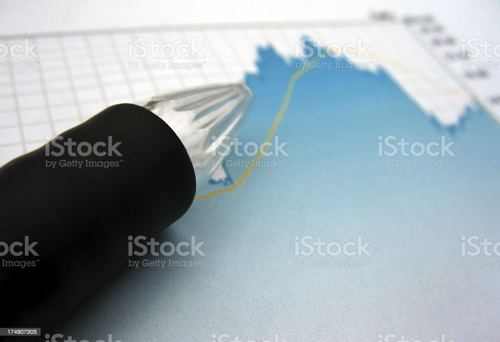 Pointing pen royalty-free stock photo