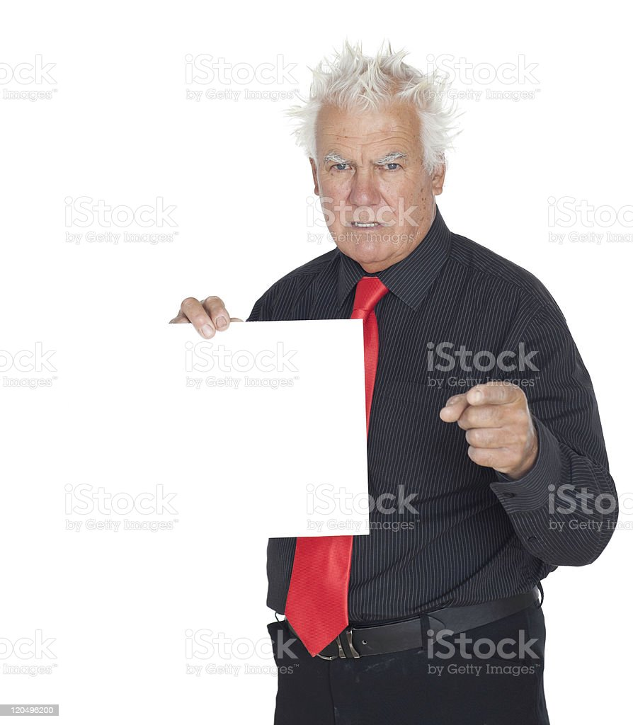 Pointing. royalty-free stock photo