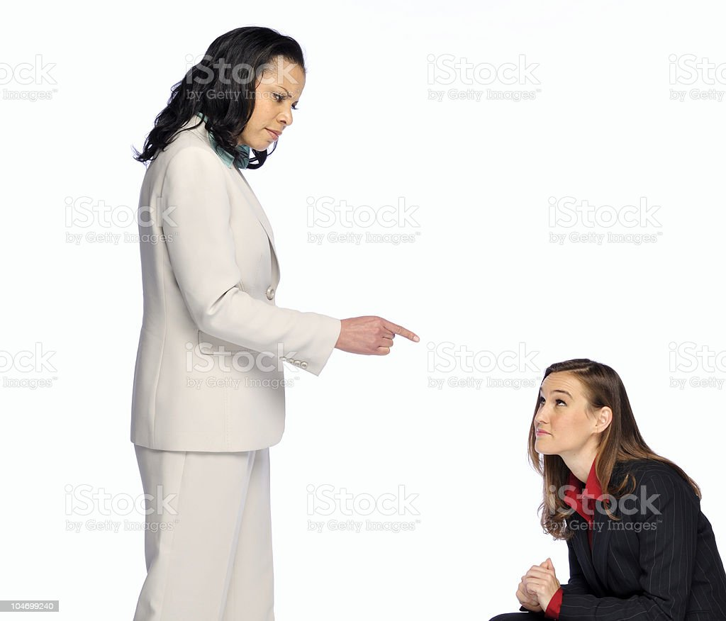 Pointing the Finger royalty-free stock photo