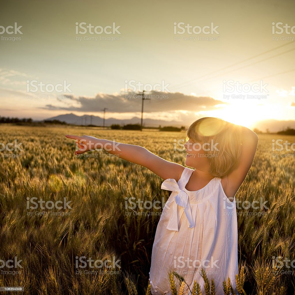 Pointing the future royalty-free stock photo