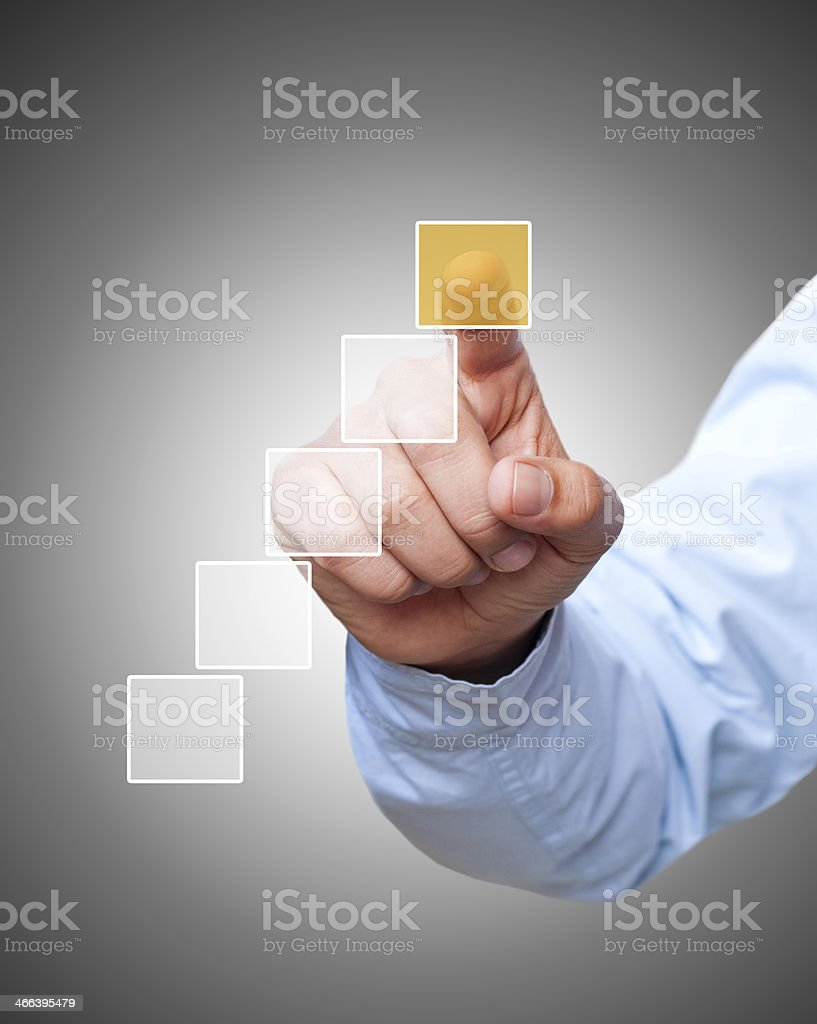 Pointing the technology stock photo