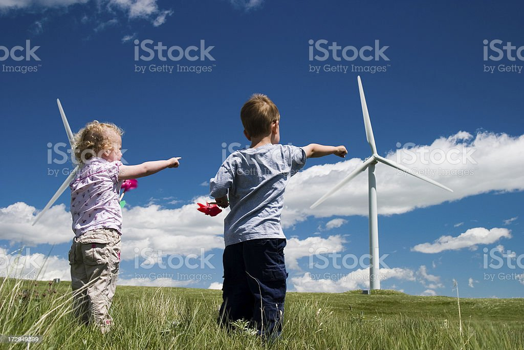 pointing to the future royalty-free stock photo