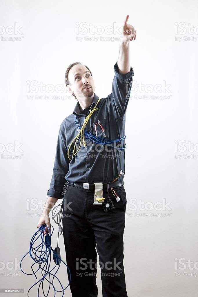 Pointing to the heaven royalty-free stock photo