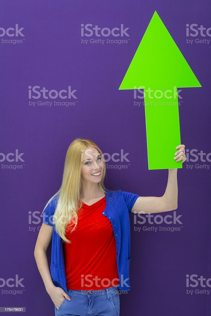 Pointing up royalty-free stock photo