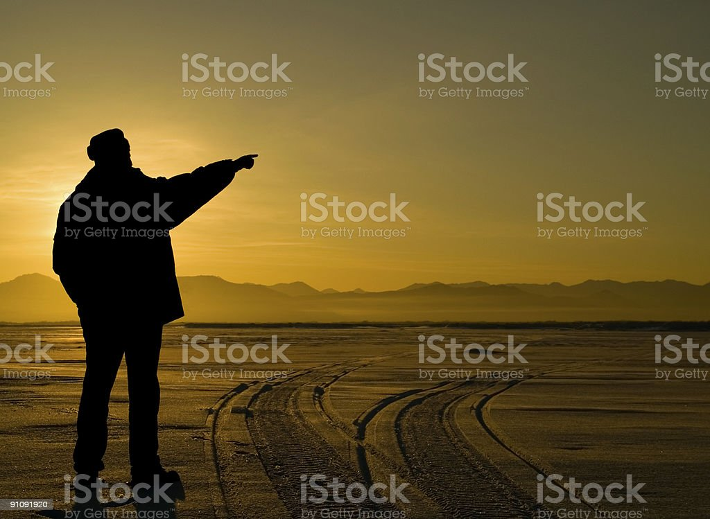 Pointing way. royalty-free stock photo