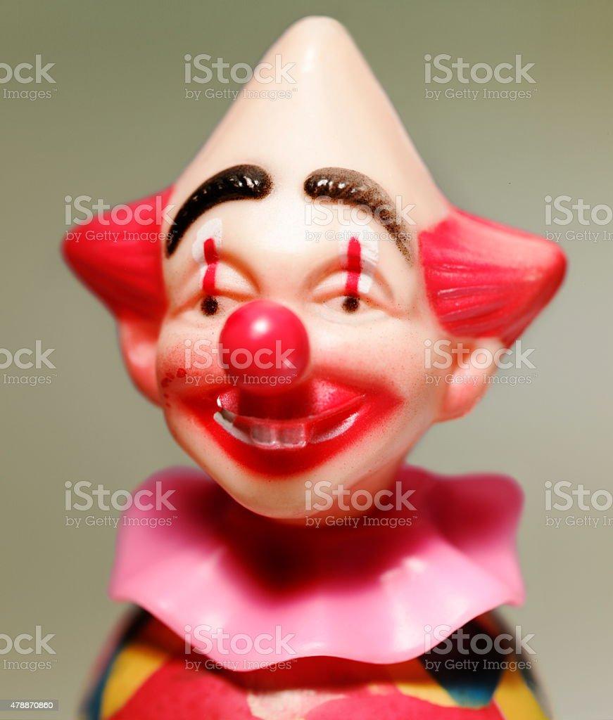 Pointy Head Clown stock photo