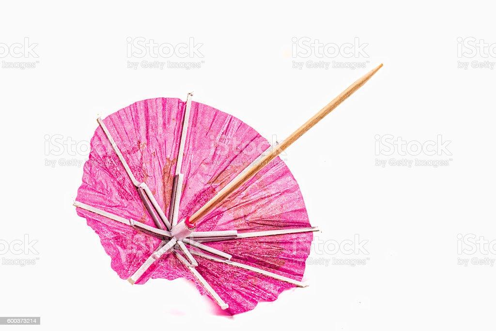 Pointy paper umbrella stock photo