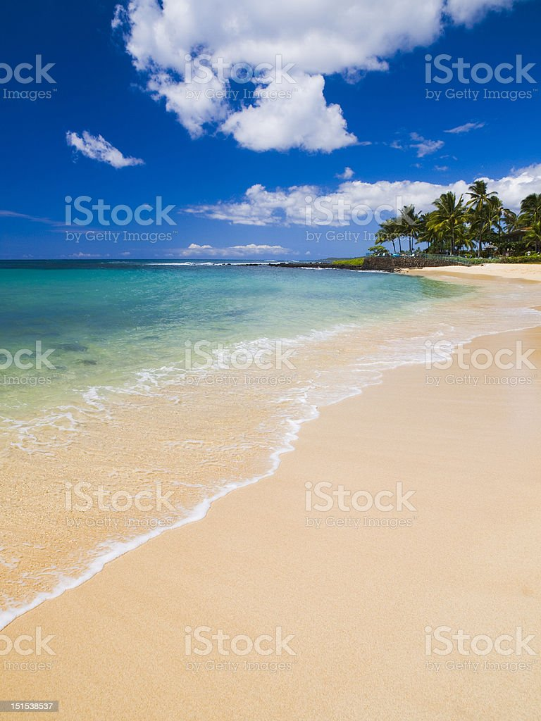 Poipu Beach Park at Kauai, Hawaii stock photo