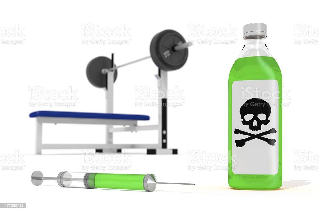 Poison bottle with needle royalty-free stock photo