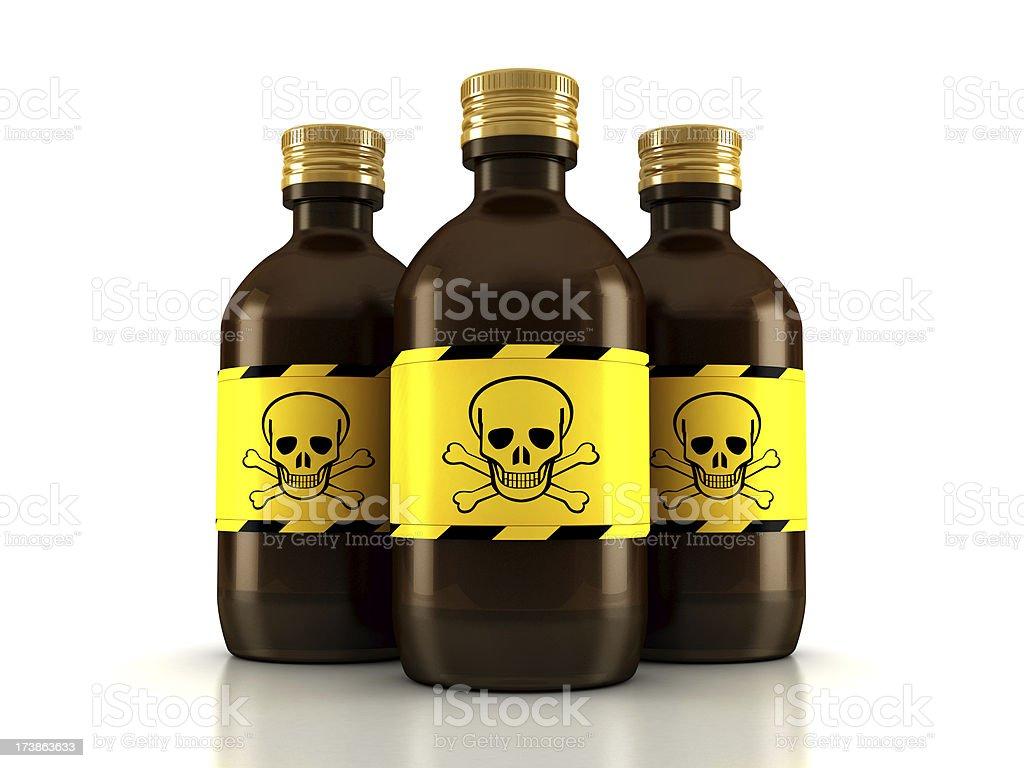 Poison bottles royalty-free stock photo