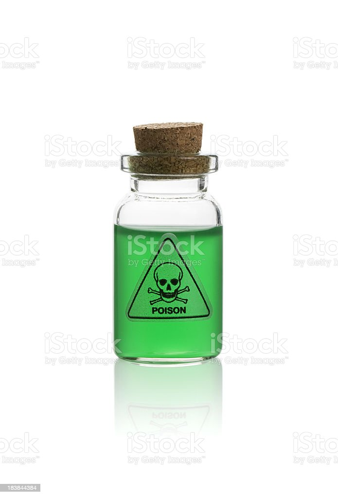 Poison in a bottle stock photo
