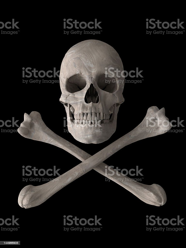 poison or toxic skull symbol vertical royalty-free stock photo