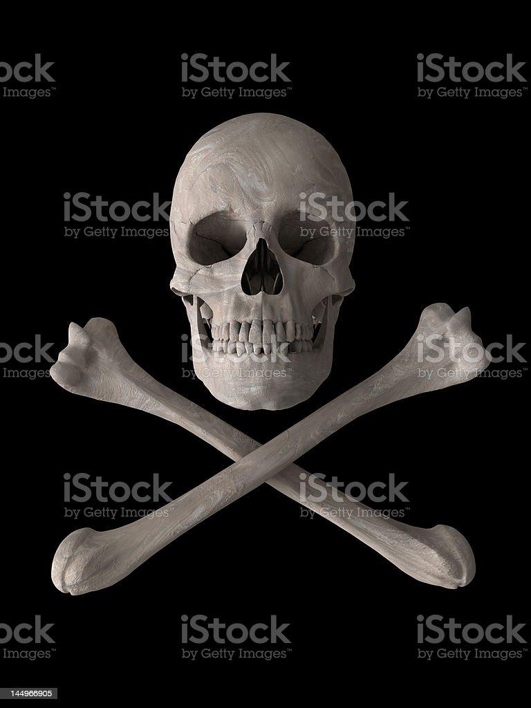 poison or toxic skull symbol vertical stock photo