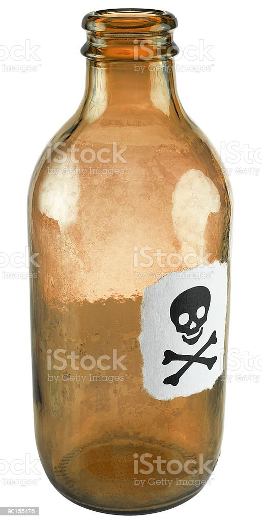 Poison small bottle royalty-free stock photo