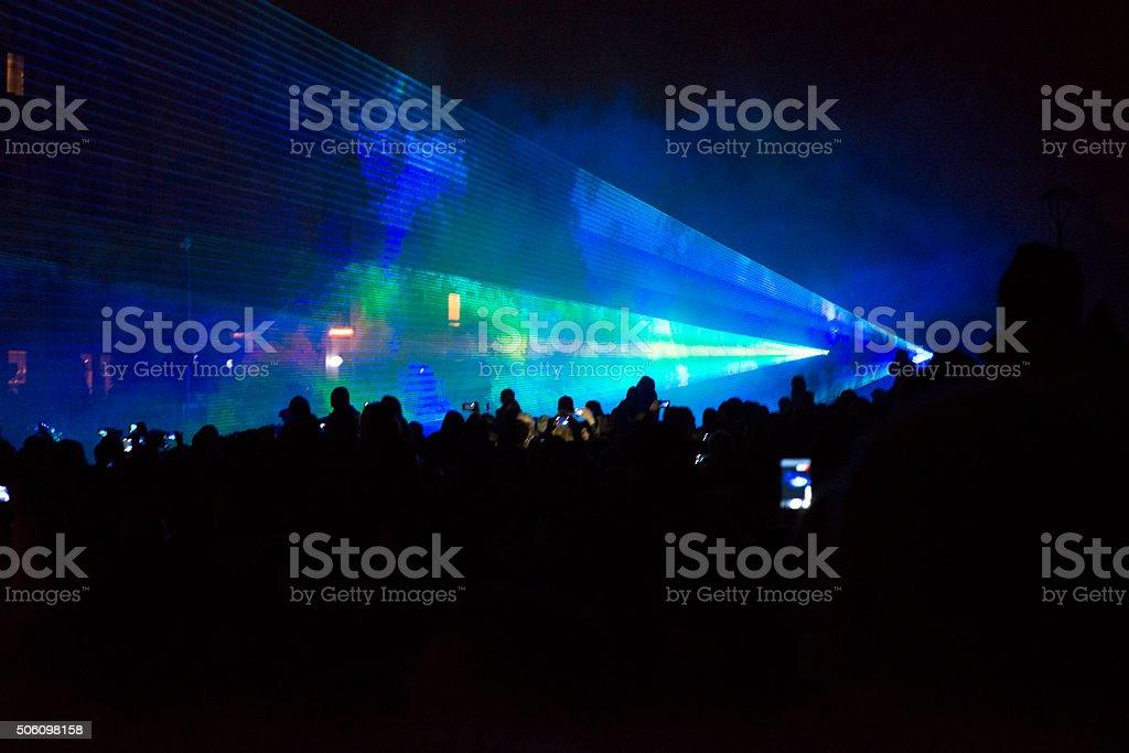 pokaz laserowy stock photo