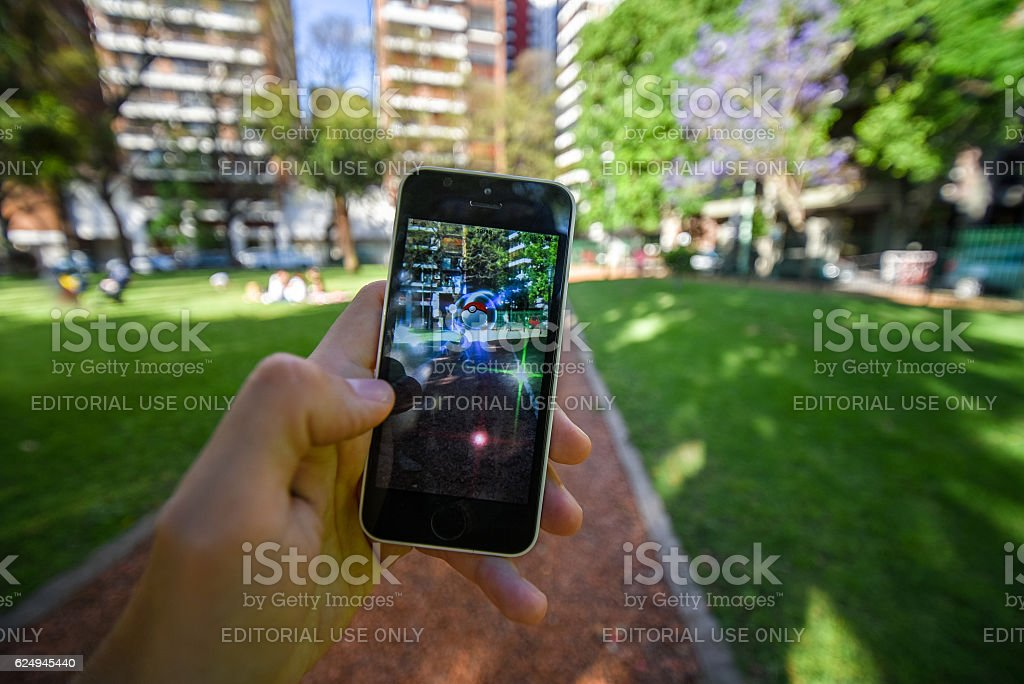 Pokemon Go app stock photo