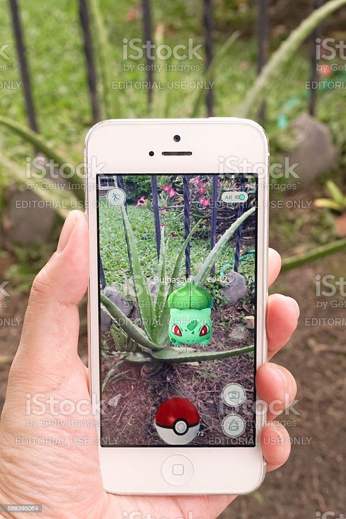 pokemon go - Balbasaur stock photo