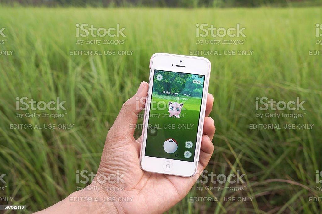 Pokemon Go - Jigglepuff (fairy pokemon) stock photo