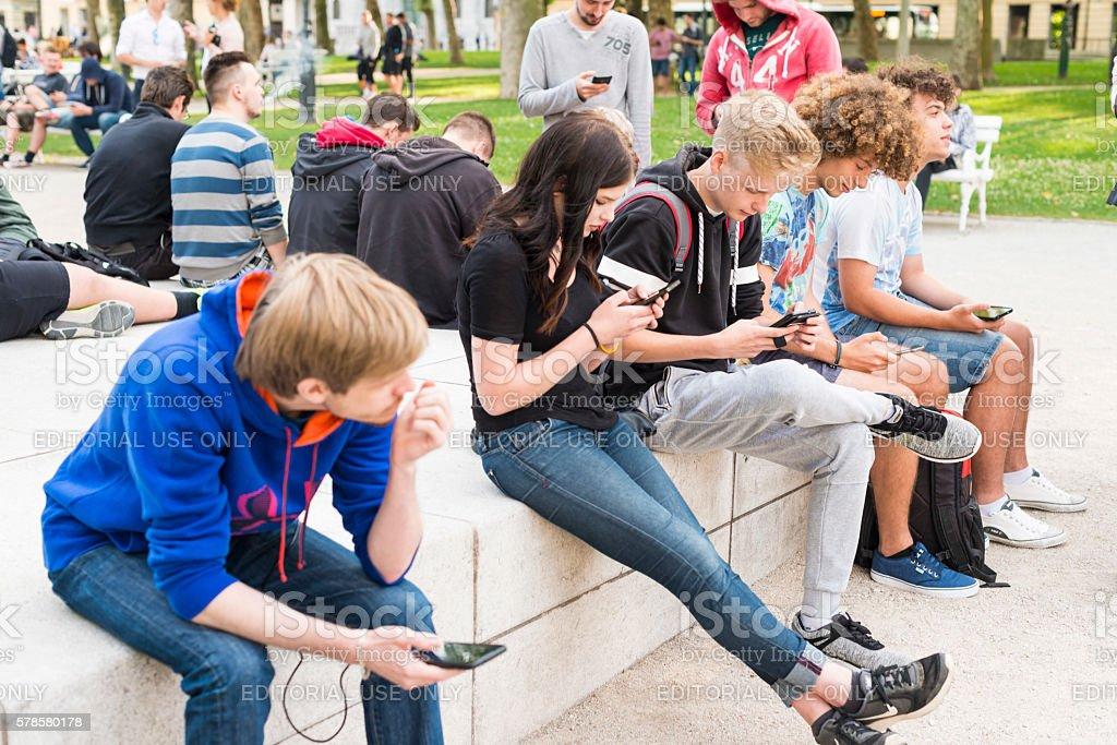 PokemonGo Slovenia stock photo