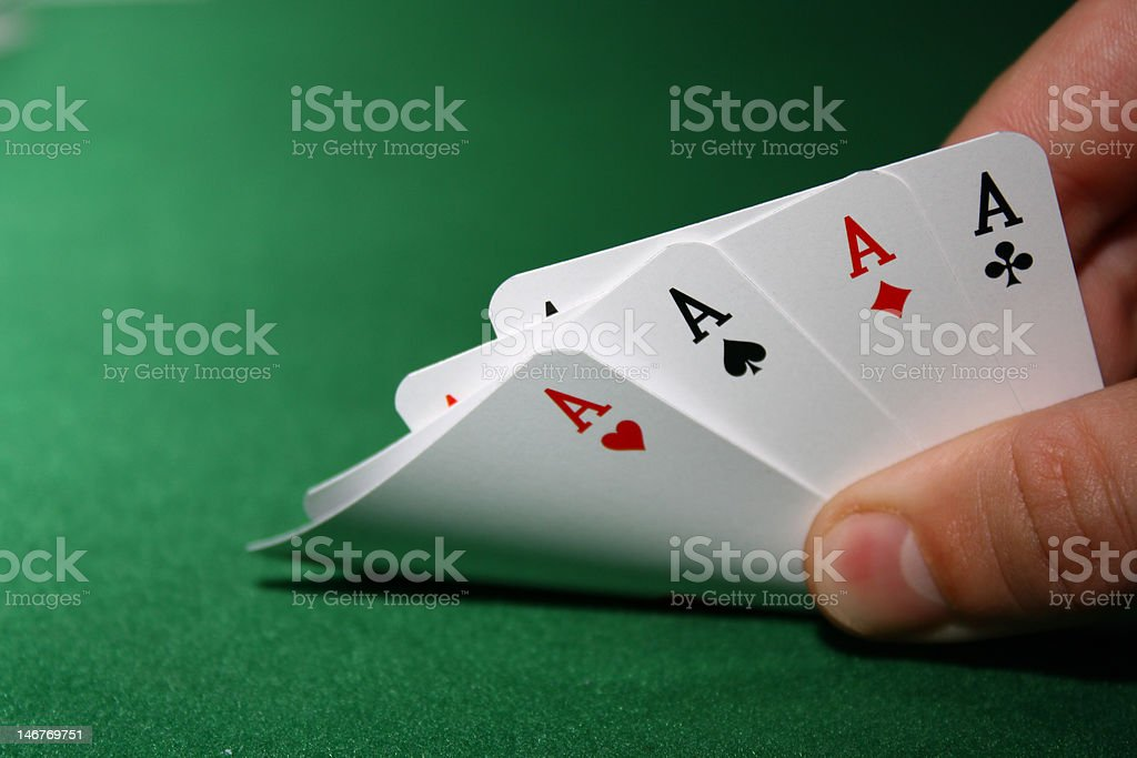 poker - 4 aces royalty-free stock photo