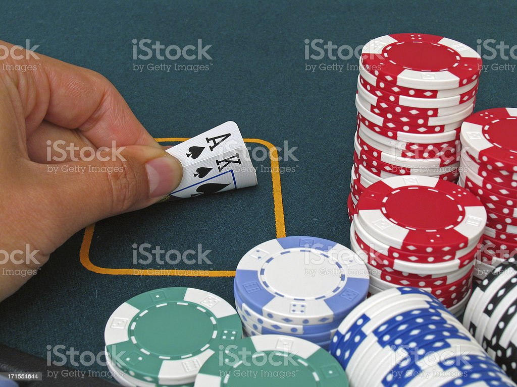 Poker - Ace King (big slick) royalty-free stock photo