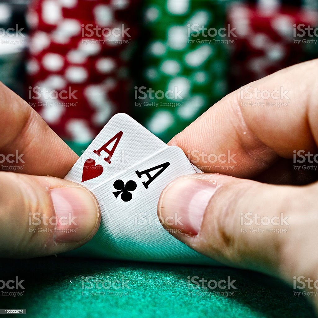 Poker Aces pair stock photo