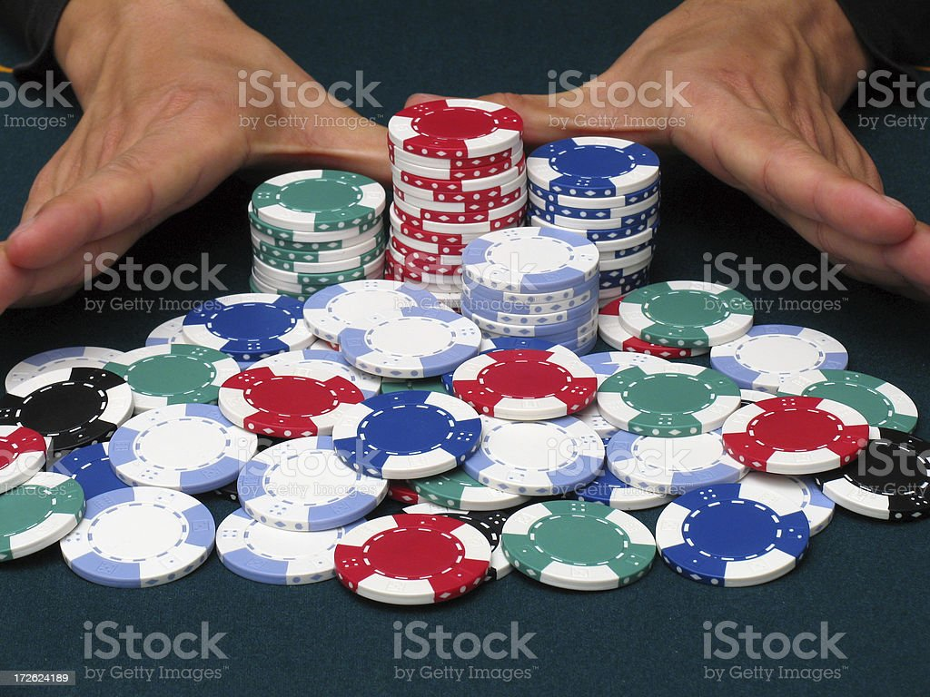 Poker all in royalty-free stock photo