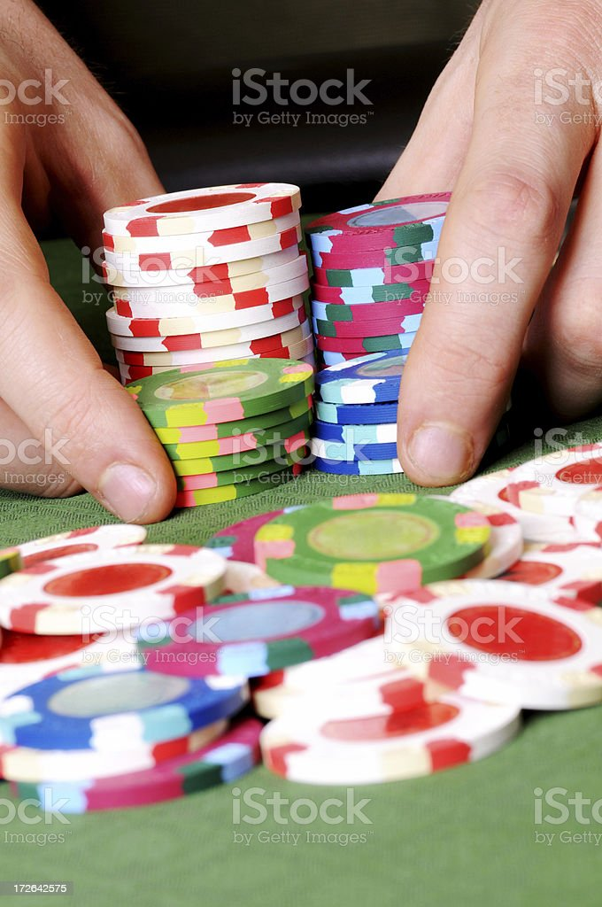 Poker: All In stock photo