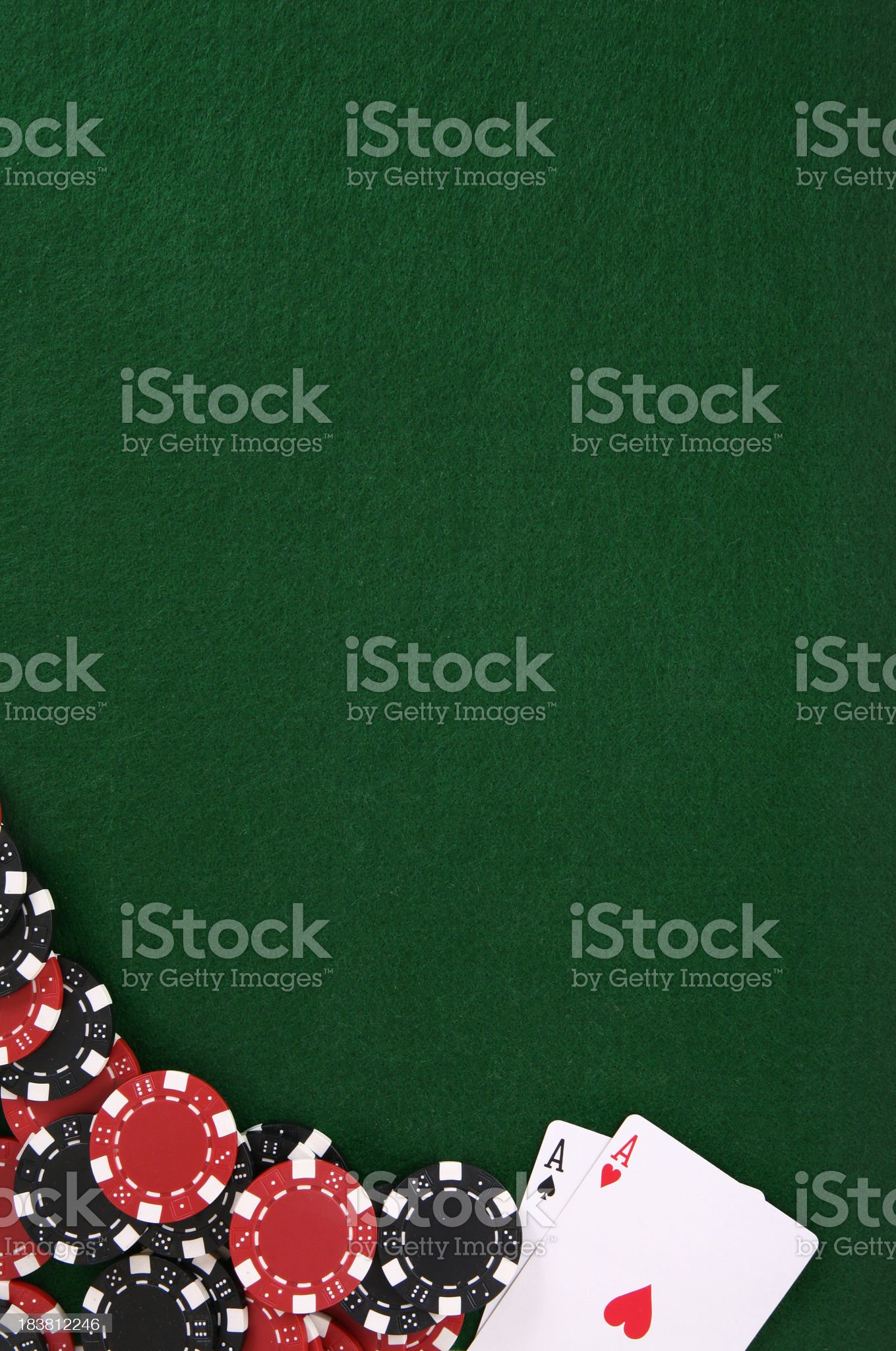 Poker and Chips Felt Background royalty-free stock photo