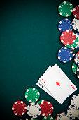 Poker and Chips Felt Background