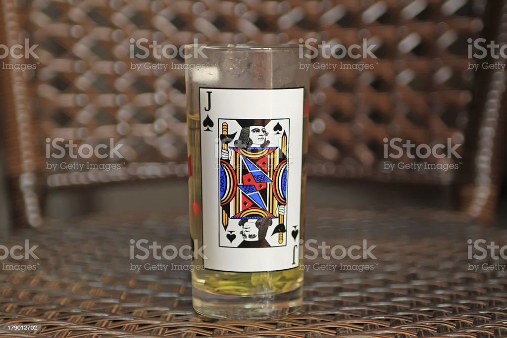 poker and glass royalty-free stock photo