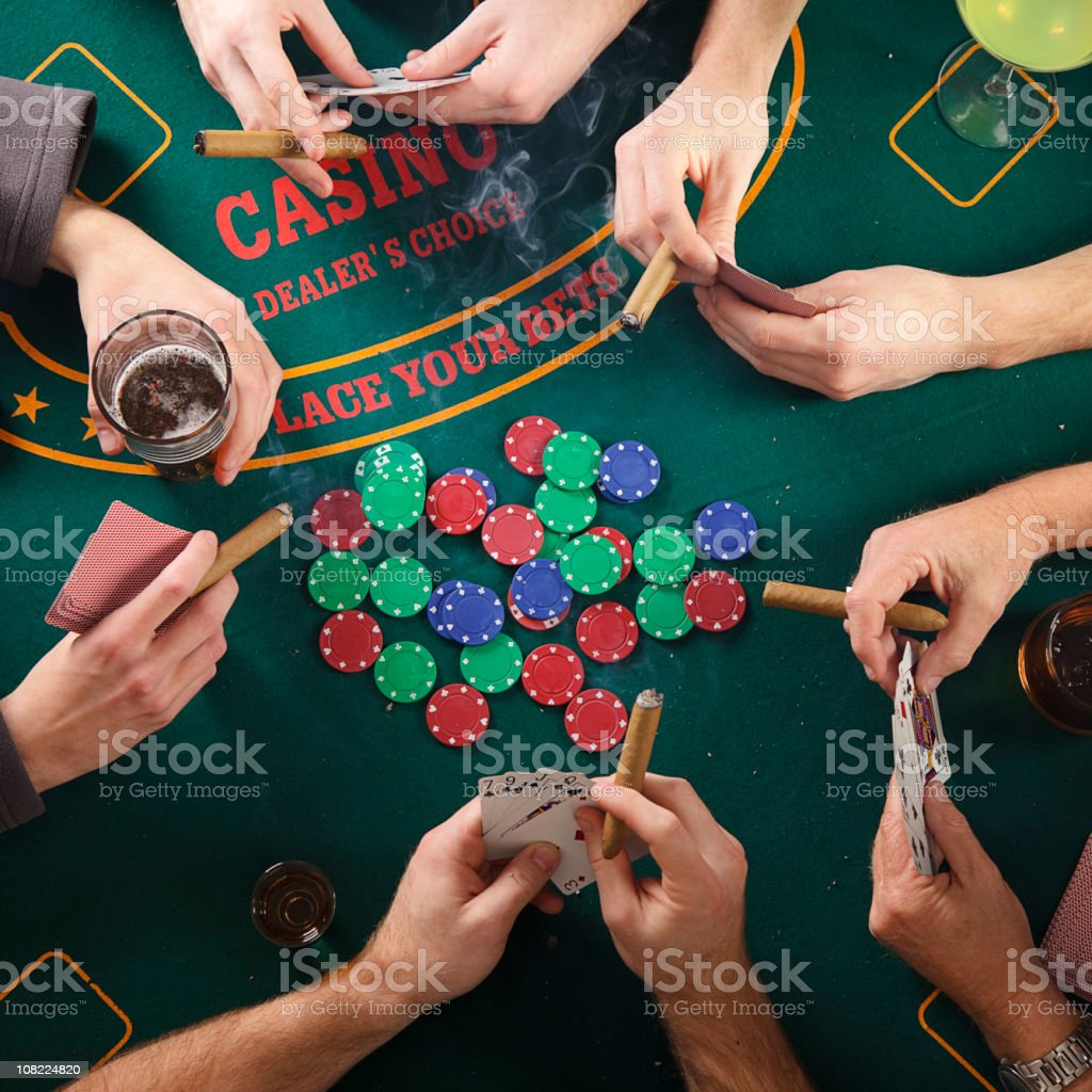 Poker Card Game from Above stock photo