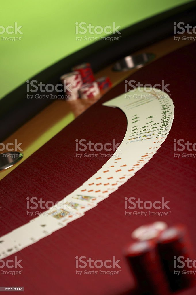 Poker Card on Table stock photo